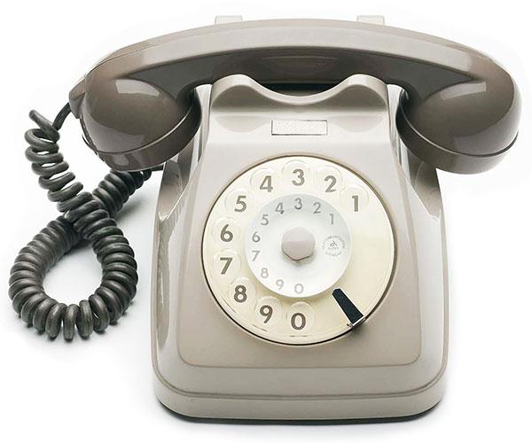 Telefono-Siemens-grigio-topo-vintage-anni-70
